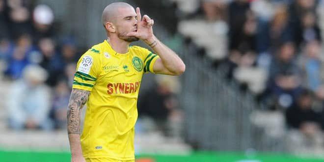 Le joueur du FC Nantes, Vincent Bessat