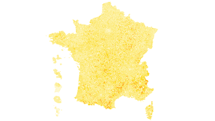 CARTE. Présidentielle : la France du vote blanc au second tour (FRANCEINFO)