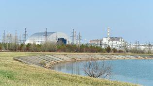 La centrale nucléaire de Tchernobyl, le 8 avril 2016. (SERGEI SUPINSKY / AFP)