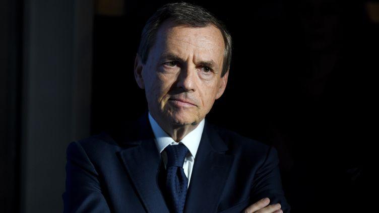 Le PDG d'Altice, Alain Weill, le 9 octobre 2018 à Paris. (ERIC PIERMONT / AFP)