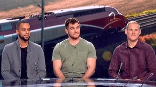 """Alek, Spencer et Anthony les """"héros du Thalys"""" invité sur le plateau de France pour le film de Clint Eastwood """"Le 15h17 pour Paris""""  (France 2 / Culturebox)"""
