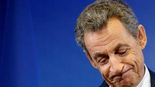 Nicolas Sarkozy à son siège de campagne, le 9 novembre à Paris (JACKY NAEGELEN / REUTERS)