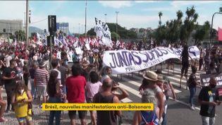 Des manifestations anti-Bolsonaro au Brésil (FRANCEINFO)