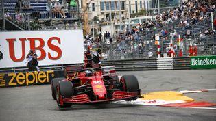 Charles Leclerc (Ferrari), normalement prévu en pole position, ne prendra finalement pas le départ du Grand Prix de Monaco dimanche en raison d'un problème mécanique. (DPPI / DPPI)