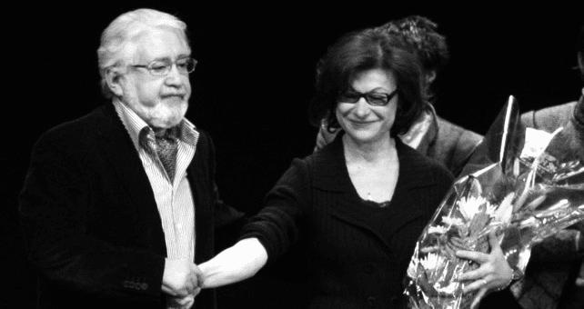 Lev Dodine aux côtés de Claudia Stavisky.  (Viktor Vassiliev)