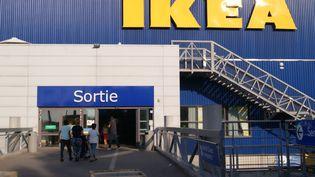 Sortie du magasin Ikea de Franconville, dans le Val-d'Oise (illustration). (STÉPHANIE BERLU / RADIO FRANCE)