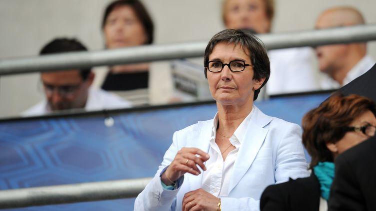 Valérie Fourneyron, la ministre des Sports, lors du match France-Serbie, le 31 mai 2012 à Reims (Marne). (FRANCK FIFE / AFP)
