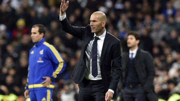 L'entraîneur du Real Madrid, Zinédine Zidane, le 9 janvier 2016. (GERARD JULIEN / AFP)