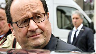 François Hollande à Tulle (Corrèze), le 7 mai 2017. (GEORGES GOBET / POOL)