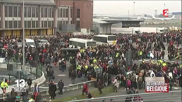 Attentats de Bruxelles : mouvement de panique à l'aéroport