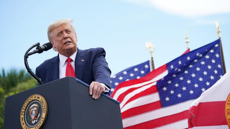 Le président américain Donald Trump en campagne électorale en Floride, le 8 septembre 2020. (MANDEL NGAN / AFP)