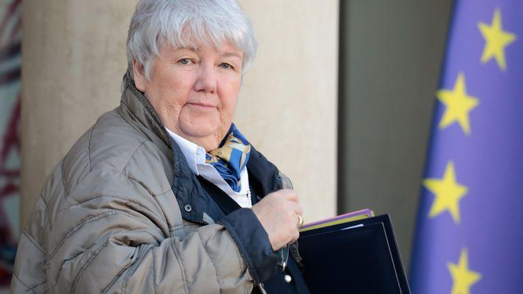 La ministre de la Cohésion des territoires, Jacqueline Gourault, le 13 février 2019 à Paris. (LUDOVIC MARIN / AFP)