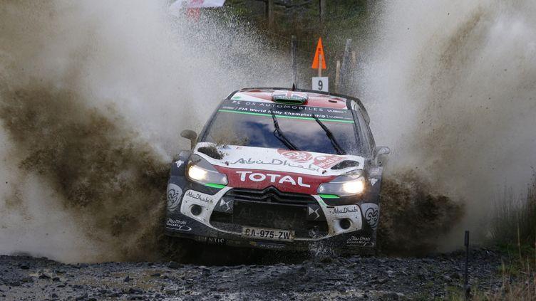 Kris Meeke (Citroën) dans la boue du RAC (FRANCOIS BAUDIN / AUSTRAL)