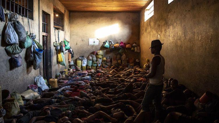 Cellule surpeuplée à la prison de Manakara (sud-est de Madagascar). Photo prise le 15 septembre 2018. (Amnesty International (Photo:Richard Burton))