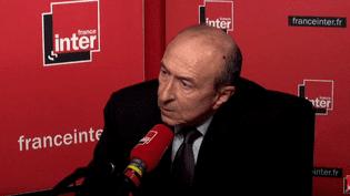 Le ministre de l'Intérieur Gérard Collomb était l'invité de la matinale de France Inter. (CAPTURE ECRAN / RADIOFRANCE)