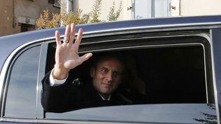 Emmanuel Macron lors d'une visite à Les Eparges (Meuse), le 6 novembre 2018. (photo d'illustration) (PHILIPPE WOJAZER / AFP)