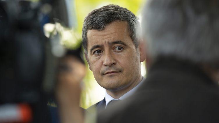 Gérald Darmanin, le ministre de l'Intérieur, le 28 mai 2021 à La Chapelle-sur-Erdre. (OLIVIER LANRIVAIN / MAXPPP)