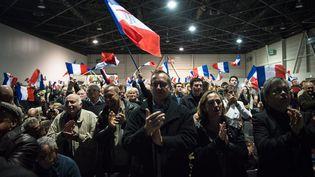 Des sympathisants et militants du Front national lors d'un meeting de Marion Maréchal-Le Pen à Marseille (Bouches-du-Rhône), le 9 décembre 2015. (MAXPPP)