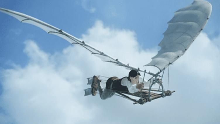 Quand la réalité virtuelle fait voler les machines de Léonard de Vinci  (Capture d'image France 3/Culturebox)