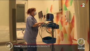 Une infirmière dans un hôpital de Seine-Saint-Denis. (France 2)