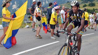 L'Erythréen Daniel Teklehaimano lors du Tour de France 2015. (FRANCIS NICOLAS / MAXPPP)