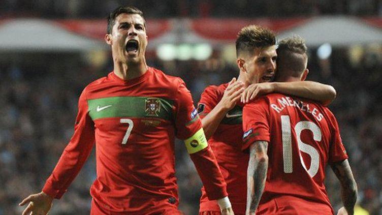 Cristiano Ronaldo hurle sa joie (PATRICIA DE MELO MOREIRA / AFP)