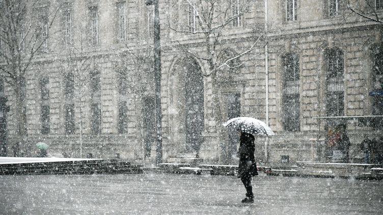 Une vague de froid traverse Paris, le 5 février 2018. (JULIEN MATTIA / NURPHOTO)