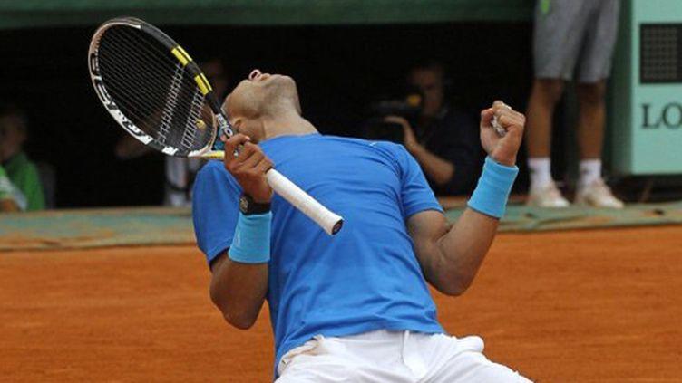 La délivrance pour Rafael Nadal après avoir battu Andy Murray 6-4, 7-5, 6-4