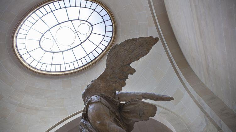 La Victoire de Samothrace au Louvre en septembre 2013 avant sa restauration. Illustration (MAXPPP)