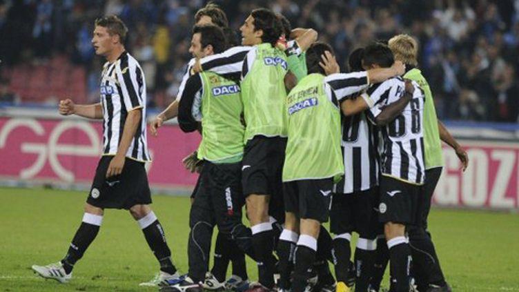 Les joueurs de l'Udinese heureux