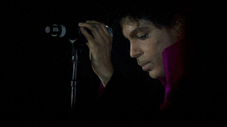 Le chanteur Prince lors du festival SXSW d'Austin (Texas), le 16 mars 2013. (JAY JANNER / AP / SIPA)