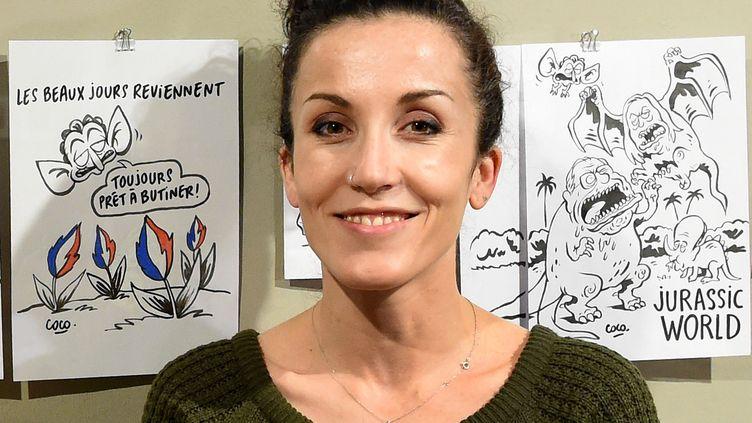 La dessinatrice Coco à Hanovre (Allemagne), le 18 octobre 2016 (HOLGER HOLLEMANN / DPA)