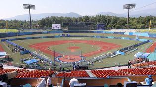Le stade olympique de baseball de Fukushima, le 21 juillet 2021. (KEN SATOMI / YOMIURI / AFP)