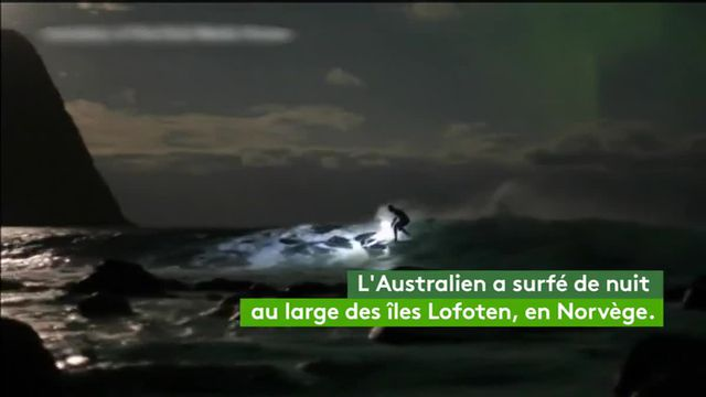 VIDEO. Norvège : il surfe à la lueur d'une aurore boréale