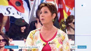 Bernadette Groison du syndicat FSU (France 3)