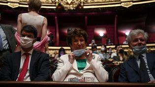 Roselyne Bachelot, au Palais Garnier le 13 juillet 2020, avant d'assister à un concert donné par l'Opéra de Paris au Palais Garnier pour les mécènes et les professionnels de santé impliqués dans la lutte contre la maladie Covid-19. (ANNE-CHRISTINE POUJOULAT / AFP)