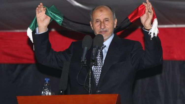 Moustafa Abdeljalil lors de son 1er discours à Tripoli le 12 septembre 2011 (AFP. M.Turkia)