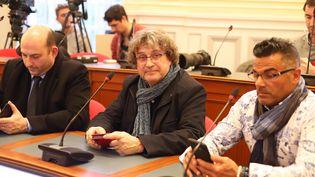 Gilles Petitbon, maire sortant de Vaumoise, à la préfecture de Beauvais, le 29 février 2020. (DOMINIQUE TOUCHART / MAXPPP)