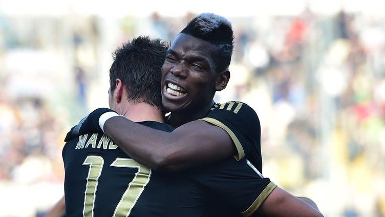 Paul Pogba a inscrit le 3e but turinois  (GIUSEPPE CACACE / AFP)