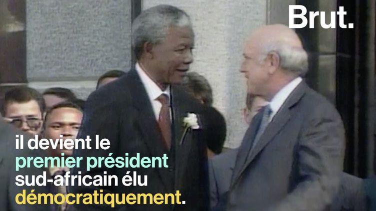"""VIDEO. """"Mes frères et mes sœurs, nous sommes un seul pays, nous sommes un seul peuple"""" : Nelson Mandela, une vie (BRUT)"""