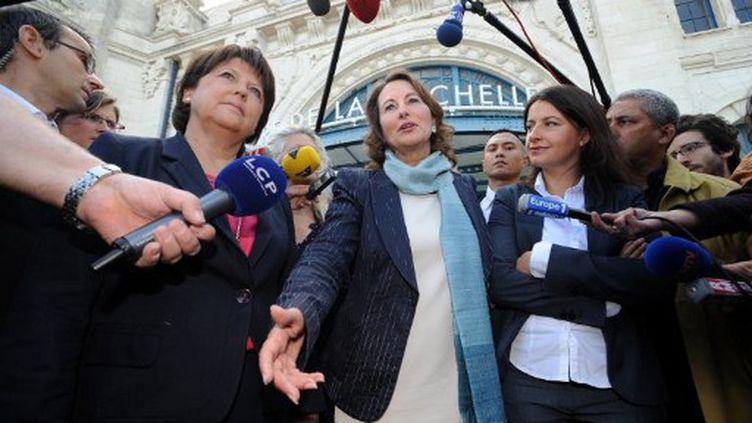 Martine Aubry, Ségolène Royal et Cécile Duflot à La Rochelle (Poitou-Charentes) en juin (AFP PHOTO / XAVIER LEOTY)