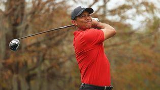 Tiger Woods, le 20 décembre 2020 à Orlando (Floride). (MIKE EHRMANN / GETTY IMAGES NORTH AMERICA / AFP)