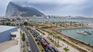 Le détroit de Gibraltar est situé au sud de l'Espagne et au nord du Maroc, le 13 août 2013. (MARCOS MORENO / AFP)