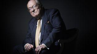Le cofondateur du Front national Jean-Marie Le Pen, le 27 janvier 2016 à Saint-Cloud (Hauts-de-Seine). (JOEL SAGET / AFP)