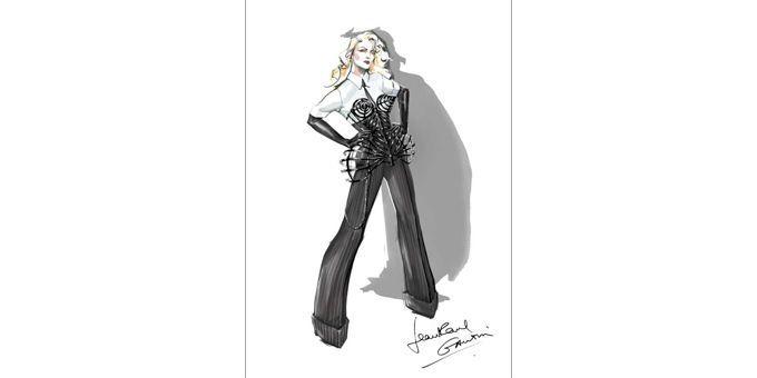 Tenue signée Gaultier que porte Madonna pendant la tournée MDNA  (Jean Paul Gaultier)