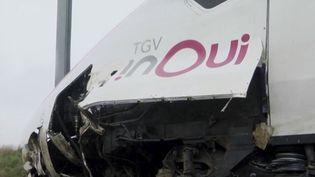 Un TGV Strasbourg-Paris a déraillé jeudi 5 mars au matin faisant 22 blessés. Le conducteur est aussi sérieusement touché. L'accident a été provoqué par un gros glissement de terrain. (FRANCE 2)