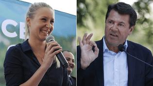 Les têtes de listes FN et LR-UDI-MoDem, Marion Maréchal-Le Pen et Christian Estrosi. (FREDERIC SEGURAN / VALERY HACHE / AFP)