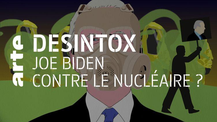 Désintox. Non, Joe Biden n'est pas pour une sortie du nucléaire (ARTE/2P2L)