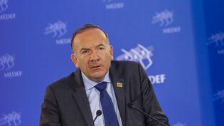 Pierre Gattaz, le 16 juin 2015 au siège du Medef à Paris. (AURELIEN MORISSARD / CITIZENSIDE.COM / AFP)