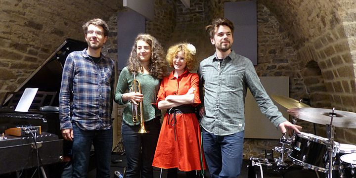 Sebastian Sternal, Airelle Besson, Clémence Colin,Jonas Burgwinkel  (Annie Yanbékian / Culturebox)